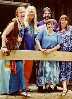 Ted, Pam, Katy Heine, Nancy Spero, Michael Hughes at Ashokan NW '94