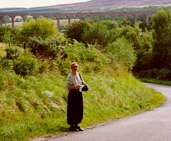 Pam Goddard near Culloden Battlefield, Inverness, Scotland